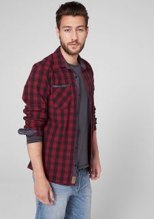 Slim: check shirt with cambric