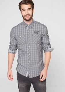 Regular: embroidered check shirt